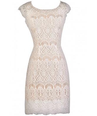 White Lace Dress, White Lace Rehearsal Dinner Dress, White Bridal Shower Dress