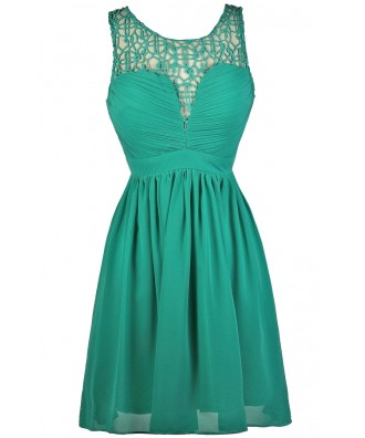 Cute Teal Dress, Teal Party Dress, Teal Cocktail Dress