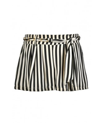 Black and Ivory Stripe Shorts, Cute Summer Shorts, Nautical Stripe Shorts