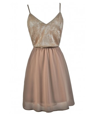 Pink Lily Boutique Sequin Dress, Blush Pink Party Dress, Pink Sequin Cocktail Dress