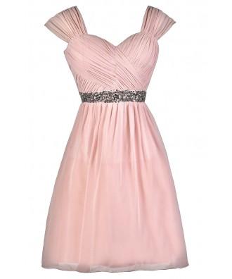 Pink Bridesmaid Dress, Cute Pink Dress, Pink Party Dress