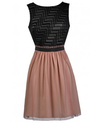 Black and Mauve Party Dress, Black and Pink Sundress