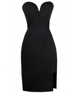 Black Strapless Dress, Cute Black Dress, Black Cocktail Dress, Online Boutique Dress