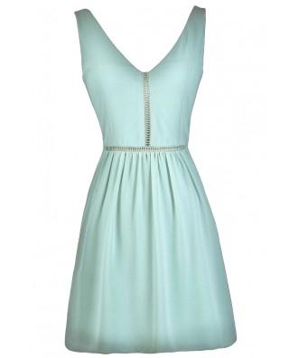 Cute Mint Party Dress, Mint Sundress, Mint Party Dress