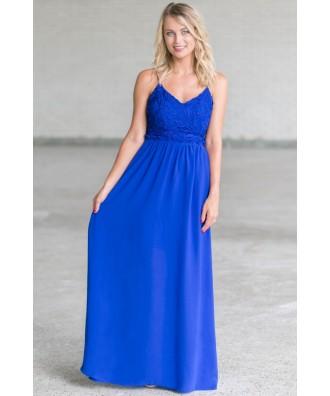 Cute Royal Blue Maxi Dress, Boutique Dresses Online, Cute Summer Maxi Dress