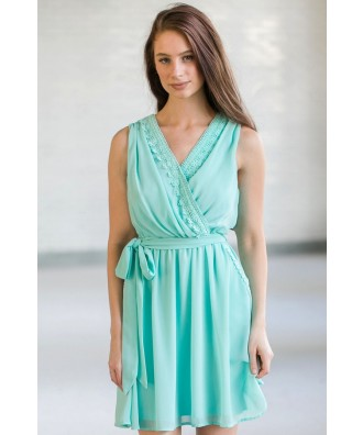 Cute Mint Dress, Mint Summer Dress, Online Boutique Dress, Cute Mint Party Dress