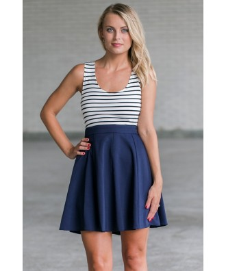 Cute Navy Juniors Boutique Dress, Online Navy Party Dress