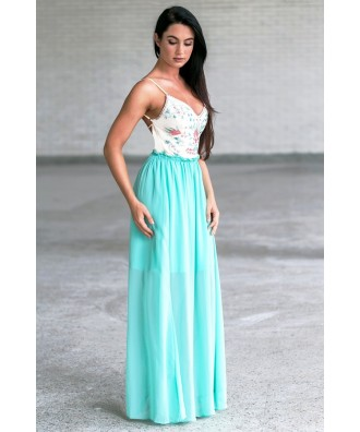 8fe41d591e5e A Closer Look. Mint Embroidered Open Back Maxi Dress ...