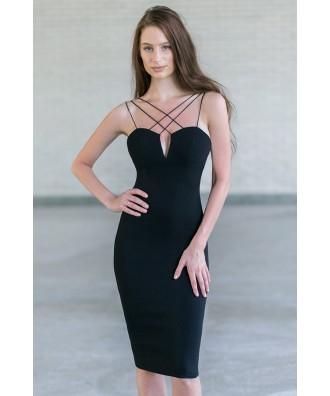 Cute Little Black Cocktail Dress, Black Juniors Party Dress