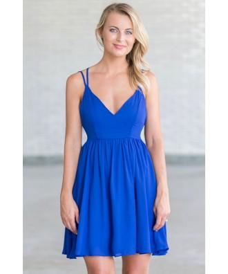 Blue party dress, cute blue juniors dress