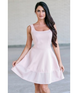 Pink A-line party dress, Cute Juniors Dress