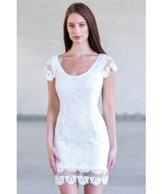 White Lace Cocktail Dress, Cue White Lace Dress