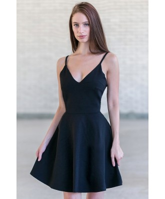 Little Black Dress, Black A-Line Party Dress, Black Cocktail Dress