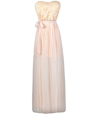Pale yellow maxi bridesmaid dress, yellow prom or formal dress