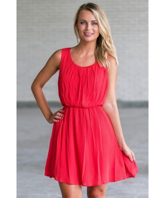 cute red sundress, red summer dress