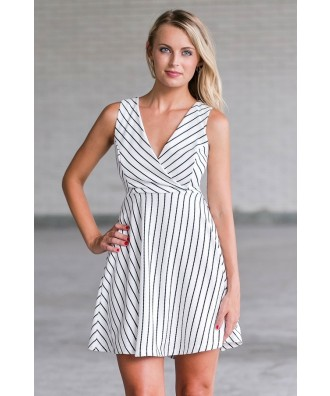 black and white stripe party dress, cute summer sundress