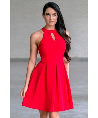 red party dress, holiday dress