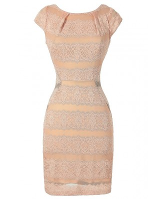 Pink Lace Bodycon Dress, Fitted Pale Pink Lace Dress, Pink Lace Pencil Dress, Pink Lace Cocktail Dress