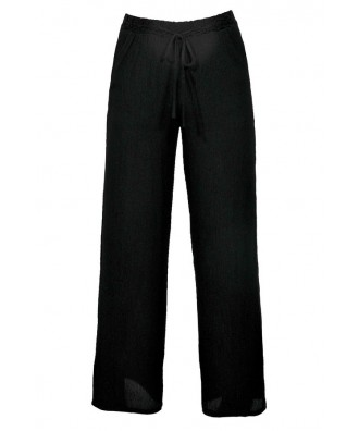 Cute Black Palazzo Pants, Black Wide Leg Palazzo Pants, Black Pants Beach Coverup