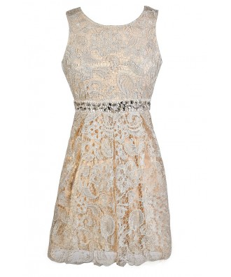 Ivory Lace Dress, Ivory Lace Rehearsal Dinner Dress, Ivory Lace Party Dress, Embellished Ivory Lace Dress, Beaded Ivory Lace Dress, Ivory Lace A-Line Party Dress