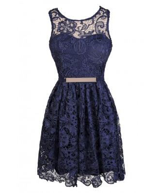 Navy Lace Dress, Cute Navy Dress, Cute Blue Lace Dress, Navy Lace Bridesmaid Dress, Blue Lace Bridesmaid Dress, Navy Summer Dress, Navy Lace A-Line Dress