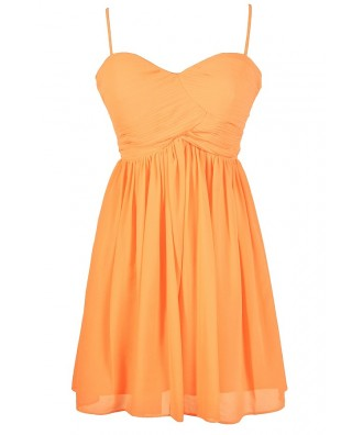 Lily Boutique Neon Coral Dress Neon Orange Dress Bright Neon ...