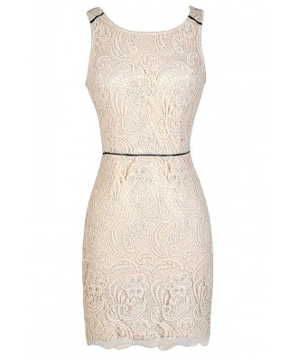 Beige Lace Dress, Ivory Lace Dress, Open Back Lace Dress, Lace Pencil Dress, Fitted Lace Dress, Beige Lace Party Dress, Beige Lace Cocktail Dress, Beige Lace Pencil Dress, Beige Lace Bodycon Dress, Cute Lace Dress