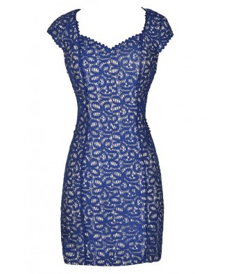 Blue Lace Dress, Blue Lace Pencil Dress, Royal Blue Lace Dress, Bright Blue Lace Dress, Royal Blue Lace Pencil Dress, Blue Lace Dress, Cute Blue Dress, Blue Lace Party Dress