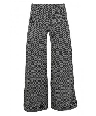 Black and Beige Printed Pants