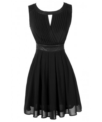 Cute Black Dress, Little Black Dress, Black Chiffon Dress, Black A-Line Dress, Black Party Dress, Black Cocktail Dress