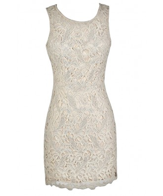 Beige Lace Dress, Beige Crochet Lace Dress, Cute Beige Dress, Beige Lace Pencil Dress, Beige Lace Sheath Dress, Ivory Lace Pencil Dress, Ivory Lace Sheath Dress