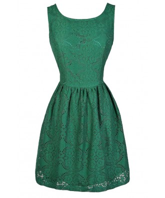 Green Lace Dress, Green Eyelet Lace Dress, Green Lasercut Lace Dress, Hunter Green Lace Dress, Green Lace Bridesmaid Dress, Green Lace Party Dress, Green Lace Summer Dress