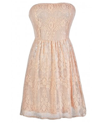Pink Sequin Dress, Pink Lace Dress, Pink Sequin Lace Dress, Cute Pink Dress, Pink Prom Dress, Pink Cocktail Dress, Pink Party Dress, Pink Strapless Lace Dress