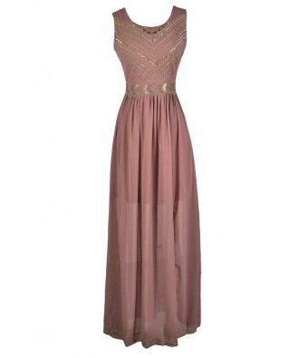 Dark Pink Maxi Dress, Pink and Gold Maxi Dress, Gold Embroidered Maxi Dress, Gold Embroidered Dress, Pink and Gold Boho Dress