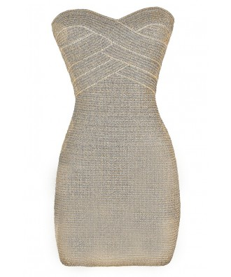 Cute Party Dress, Cute Cocktail Dress, Cute Bodycon Dress, Silver Bodycon Dress, Gold Bodycon Dress, Silver Strapless Dress, Gold Strapless Dress, Metallic Bodycon Dress