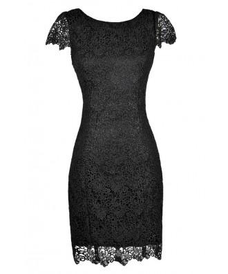 Cute Black Dress, Black Lace Dress, Black Lace Pencil Dress, Black Lace Capsleeve Pencil Dress, Black Lace Party Dress, Black Lace Cocktail Dress, Cute Black Dress