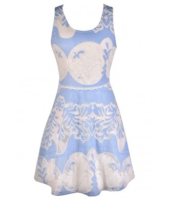 Cute Blue Dress, Pale Blue Dress, Sky Blue Dress, Sky Blue and Ivory Dress, Pale Blue and Ivory Dress, Baby Blue and Ivory Dress, Pale Blue and White Dress, Sky Blue and White Dress, Baby Blue and White Dress, Cute Summer Dress, Blue and White Summer Dres