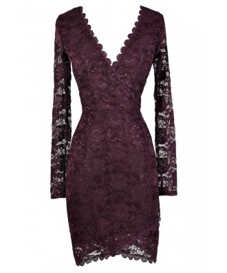 Cute Purple Dress, Purple Lace Dress, Royal Purple Dress, Purple Lace Bodycon Dress, Purple Party Dress, Purple Cocktail Dress, Dark Purple Dress