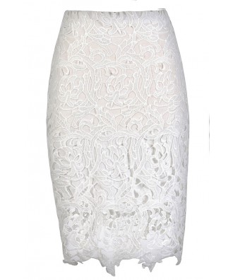 Cute Lace Skirt, Ivory Lace Pencil Skirt, White Lace Pencil Skirt, Cute Lace Skirt, Ivory Lace Skirt, White Lace Skirt, Cute Pencil Skirt