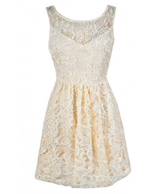 Cream Lace Dress, Beige Lace Dress, Ivory Lace Dress, Cream Lace Rehearsal Dinner Dress, Beige Lace Rehearsal Dinner Dress, Ivory Lace Rehearsal Dinner Dress, Cream Lace Party Dress, Ivory Lace Party Dress, Cream Lace A-Line Dress, Beige Lace A-Line Dress