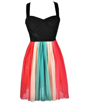 Rainbow Party Dress, Cute Rainbow Dress, Multi Colored Rainbow Dress, Rainbow Summer Dress, Rainbow Party Dress