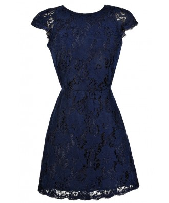 Navy Lace Dress, Navy Lace Party Dress, Open Back Navy Lace Dress, Open Back Lace Dress, Navy Lace Sheath Dress, Navy Lace Cocktail Dress