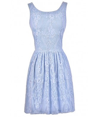 Periwinkle Blue Lace Dress, Pale Blue Lace Dress, Sky Blue Lace Dress, Periwinkle Blue Bridesmaid Dress, Sky Blue Bridesmaid Dress, Pale Blue Bridesmaid Dress, Blue A-Line Lace Dress