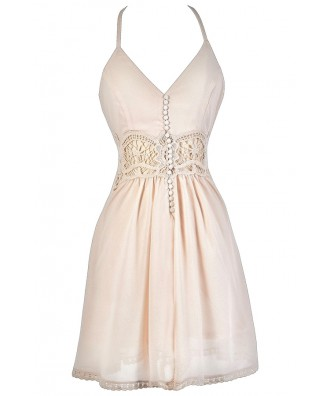 Blush Pink Dress, Pale Pink Dress, Light Pink Dress, Pink Summer Dress, Beige Pink Dress, Cute Summer Dress