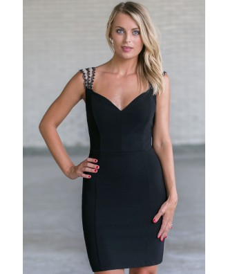 Cute Little Black Cocktail Dress, Black Party Dress Online, Juniors Black Dress