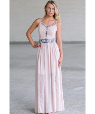 Cute Summer Maxi Dress, Embroidered Maxi Dress Online, Cute Juniors Dress Online